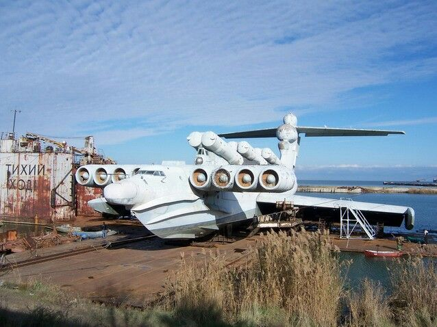 Lun Class Ekranoplan, Hybrid Russian flying ship with missile cannisters!