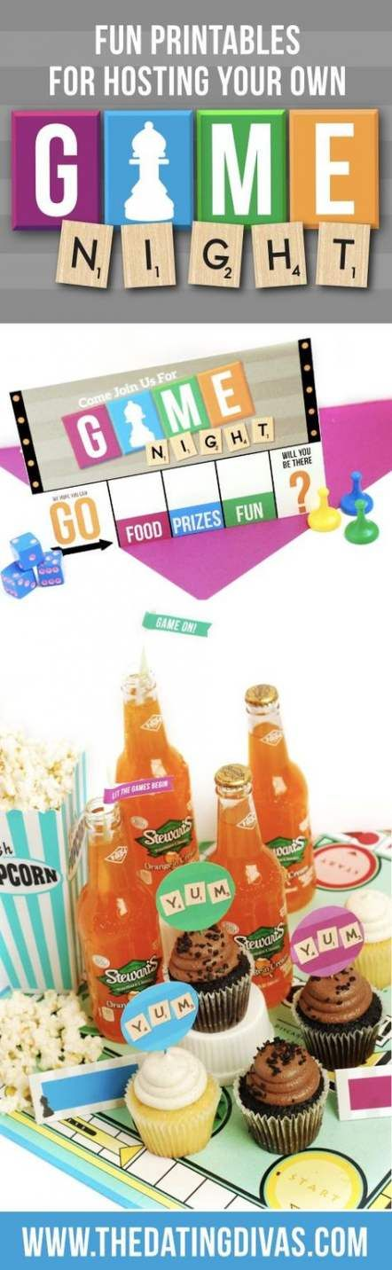 New Games Night Theme Free Printable Ideas