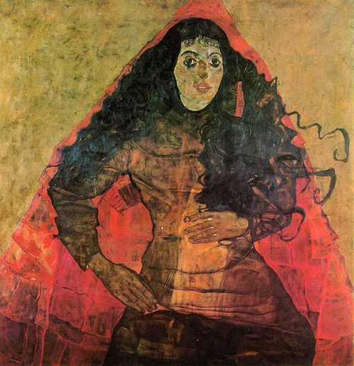 Egon Schiele - Portrait of Trude Engel, 1911