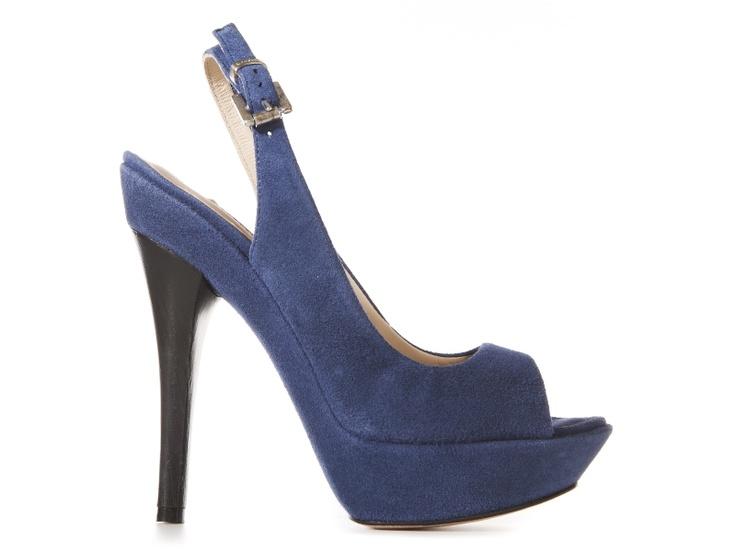 Nadia blue suede sandals