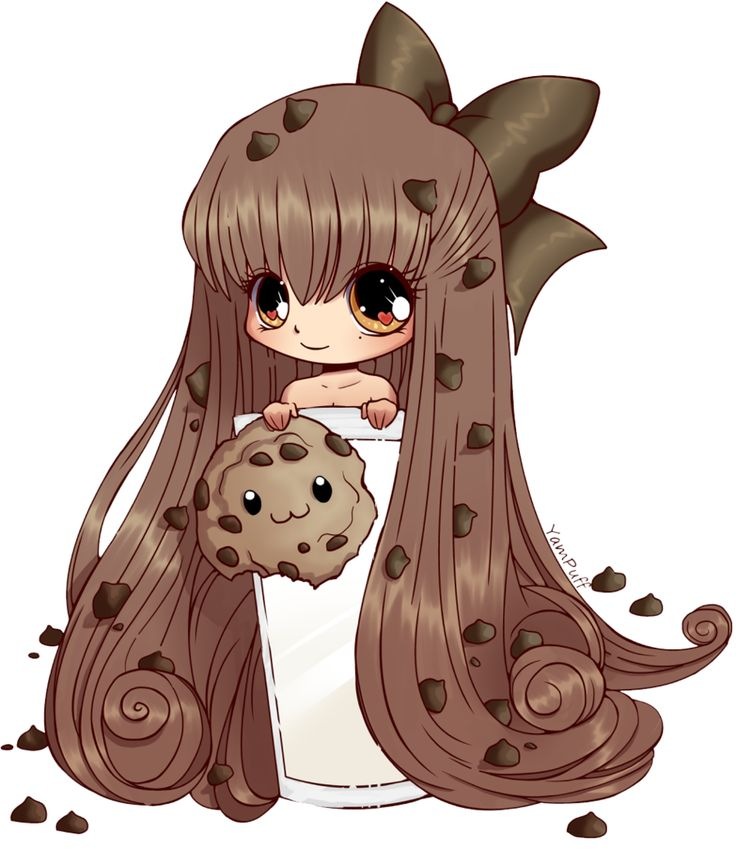 Coloured Lineart: CookieGirl by Sliver-Of-Moonlight.deviantart.com on @DeviantArt