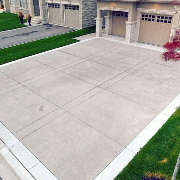 Top 50 Best Concrete Driveway Ideas Front Yard Exterior Designs