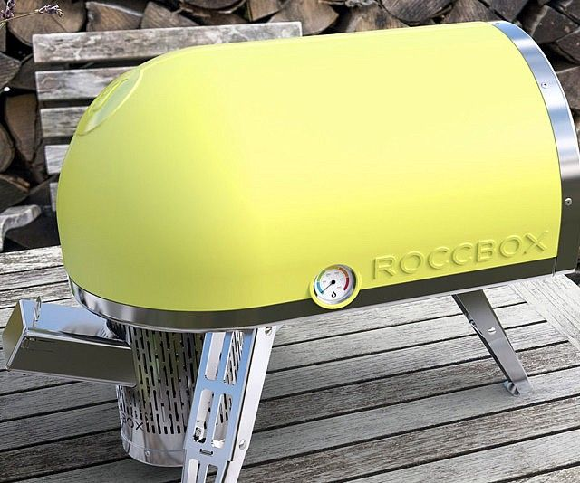 Turn BBQs into gourmet feasts by preparing meals with this portable pizza oven. Although it's compact enough to easily transport, it features a roomy interior and an authentic stone oven floor that can cook a pizza in just 90 seconds!