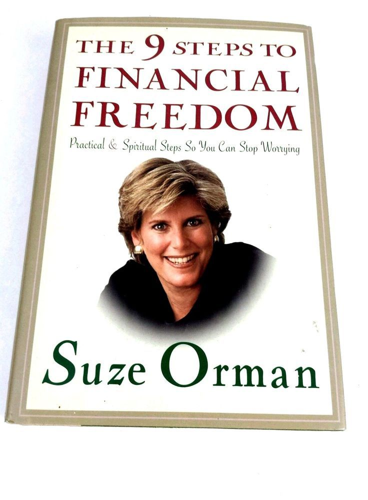 Suze Orman 9 Steps To Financial Freedom Practical Spiritual Steps Hardcover Book Hardcover Financial Freedom Hardcover Book Financial