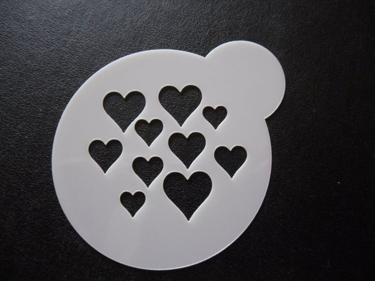 Unique bespoke new laser cut hearts cookie / face painting stencil