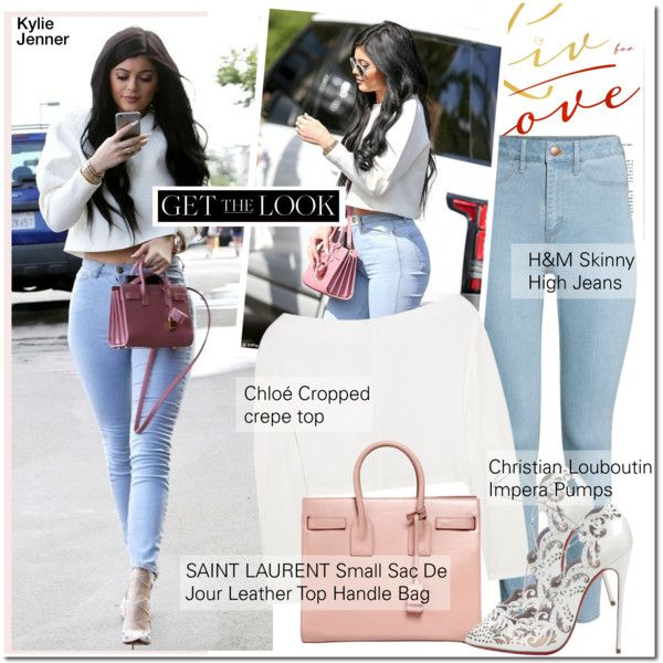 GET THE LOOK-Kylie Jenner by andjela19951 on Polyvore featuring Chloé, H&M, Yves Saint Laurent and Christian Louboutin