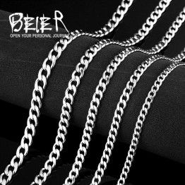 BEIER Stainless Steel Trendy Chain Necklaces For Men