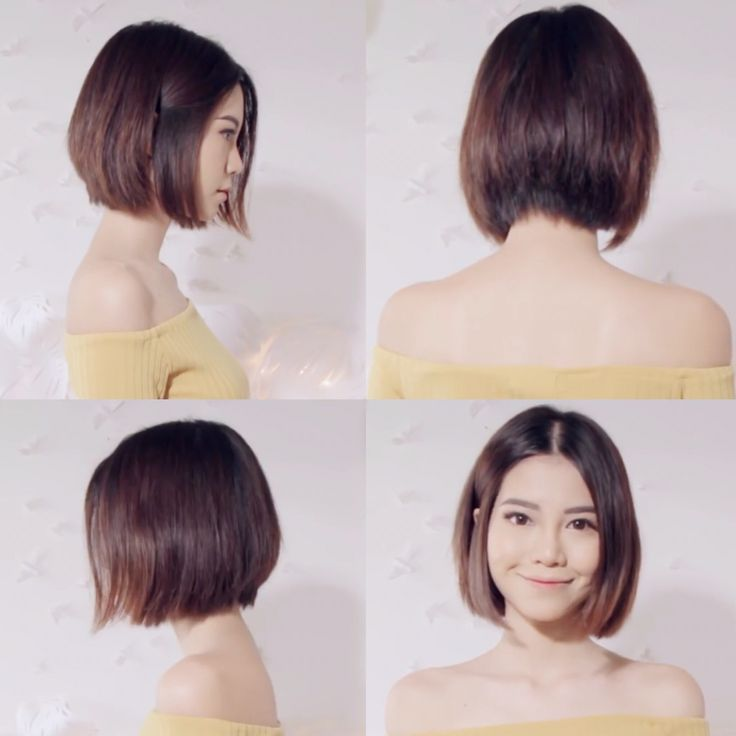 Sichenmakeupholic on YouTube is short hair goals #asian #bob #shorthair… More
