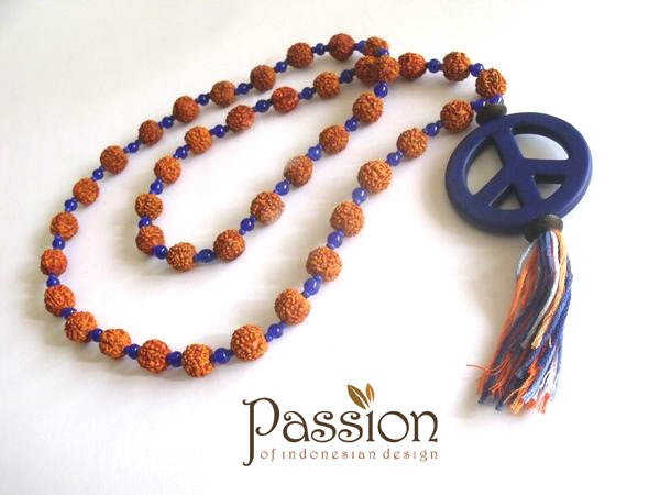 "JUAL: [HOT ITEM!!!] Kalung ""PEACE"" Ganitri"