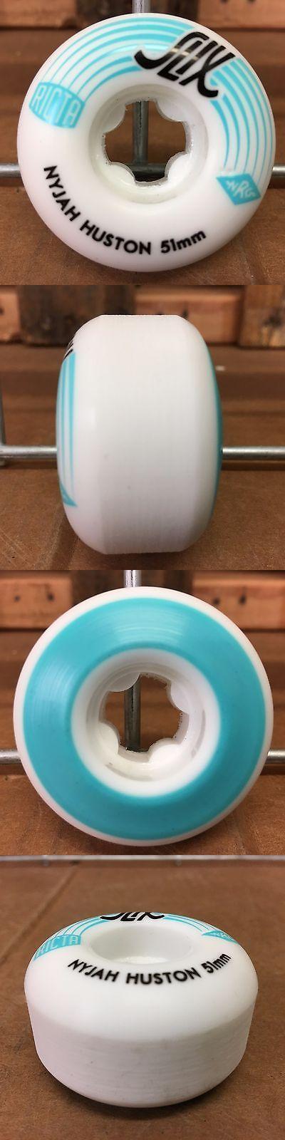 Wheels 23830: New Ricta Nyjah Huston Slix White Skateboard Wheels - 51Mm 81B - (Set Of 4) -> BUY IT NOW ONLY: $34.95 on eBay!