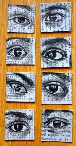 """""""Les yeux"""" -Desenhos de Stephanie Ledoux"""