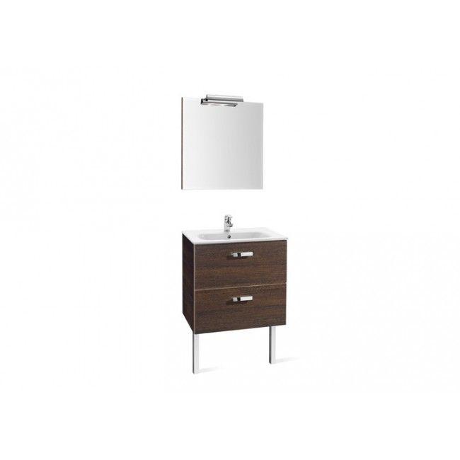 Conjunto completo mueble de baño Roca Victoria Basic 80