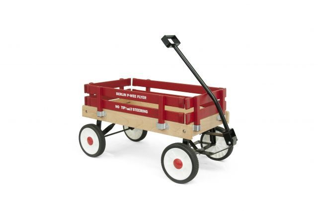 Berlin Flyer Express Wagons is a Mennonite-owned business in Holmes County, Ohio. The Pee-Wee Flyer is the smallest of the Berlin Flyers line, but they still feature the same quality construction and