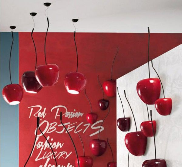 Cherry Lamp Small - Adriani e Rossi  #Marsala #Pantone #ColorOfTheYear #2015 #interiordesign
