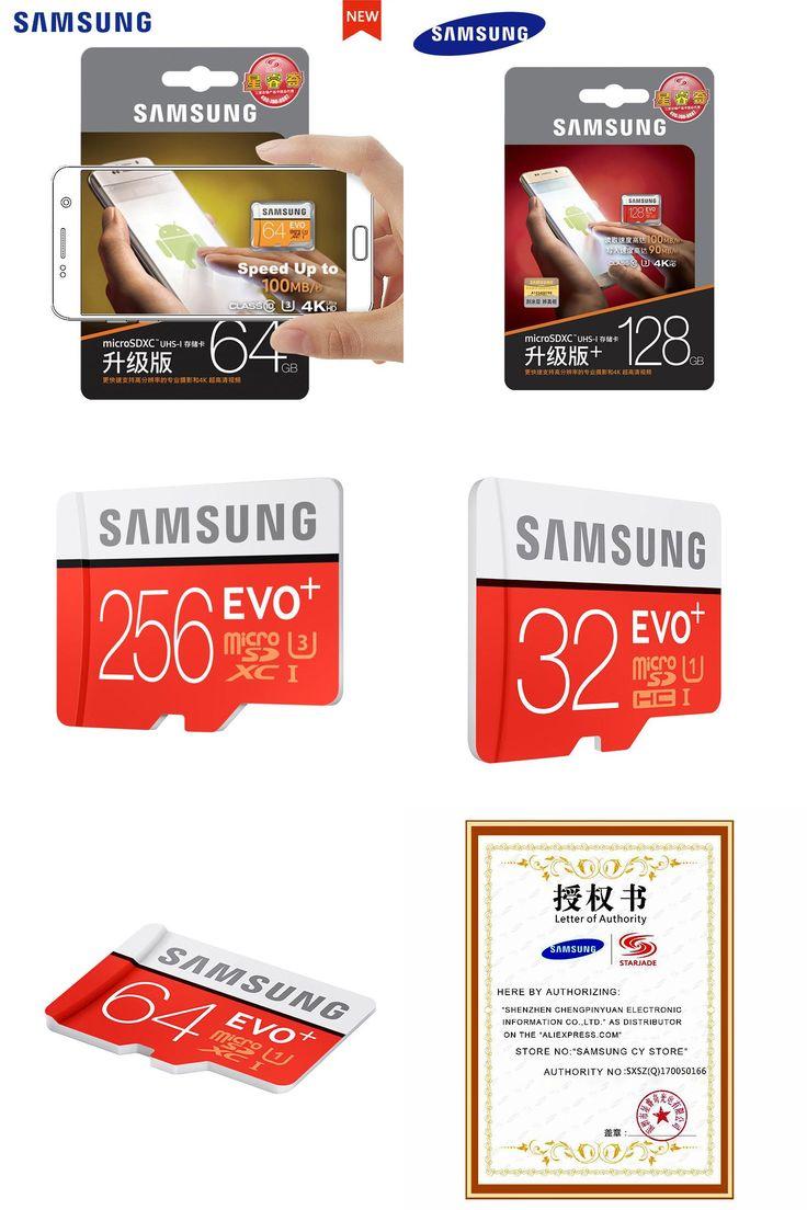 [Visit to Buy] Original SAMSUNG Micro SD Memory Card 128GB EVO+ Plus 256GB 64GB 32GB 16GB Class10 TFCard C10 100MB/S SDXC 64gb For smart phones #Advertisement