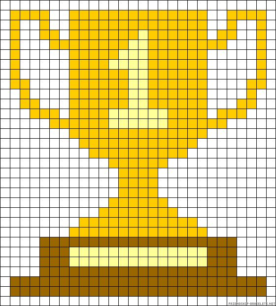 Winner trophy cup perler bead pattern