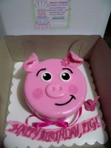 pig cakes for birthday