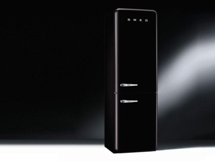 Smeg FAB32RNE1 Stand Gefrierkombination Schwarz amerikanischer Kühlschrank A++ | eBay
