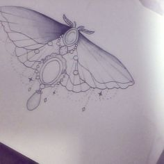 american traditional moth tattoo - Google Search