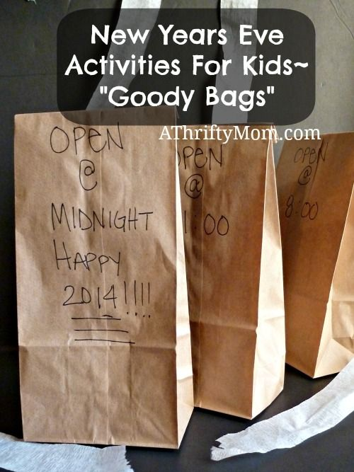 """New Years Eve Activities For Kids~ """"Goody Bags"""""""