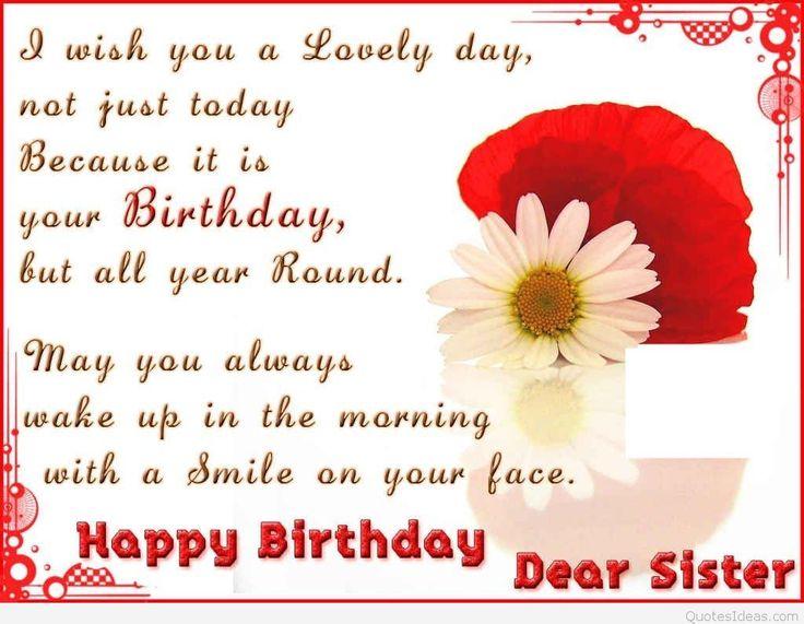 Happy Birthday, Dear Sister