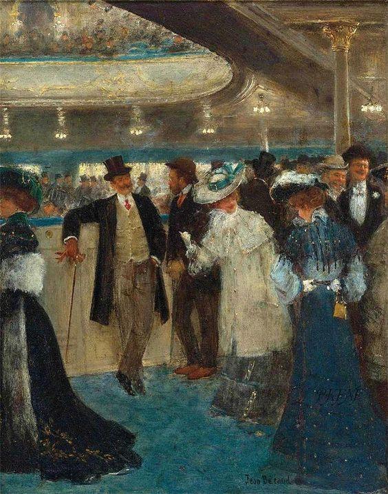 Le Promenoir aux Folies-Bergère ~ Jean Georges Béraud ~ (French: 1849-1935):