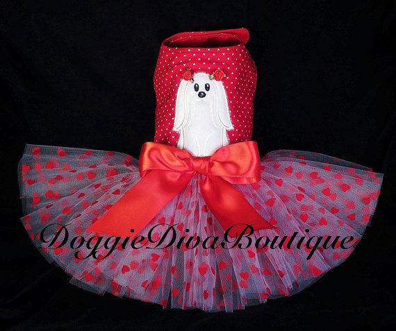 Dog Tutu Dress Maltese Sweetheart Small by DoggieDivaBoutique, $39.99