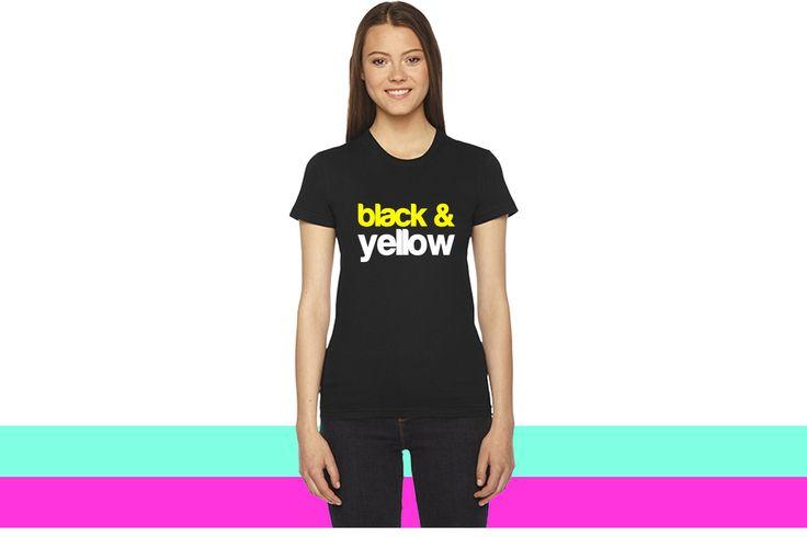 Black and Yellow Wiz Khalifa Design women T-shirt