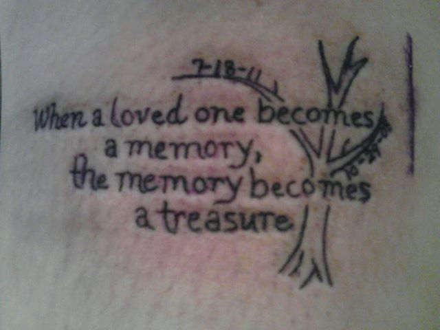 Tattoo Quotes About A Lost Loved One: Memory Tattoo For My Grandpa, Uncle, An Best Friend