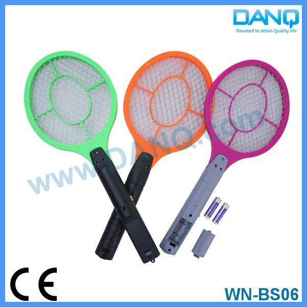 Three layers mosquito killer, bug zapper, mosquito swatter, mosquito racket with CE-EMC