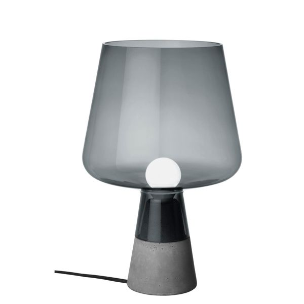 scandinavian lighting design. iittala leimu lighting piece combines a strong concrete base and an impressive glass lamp portion it comes in two sizes scandinavian design u