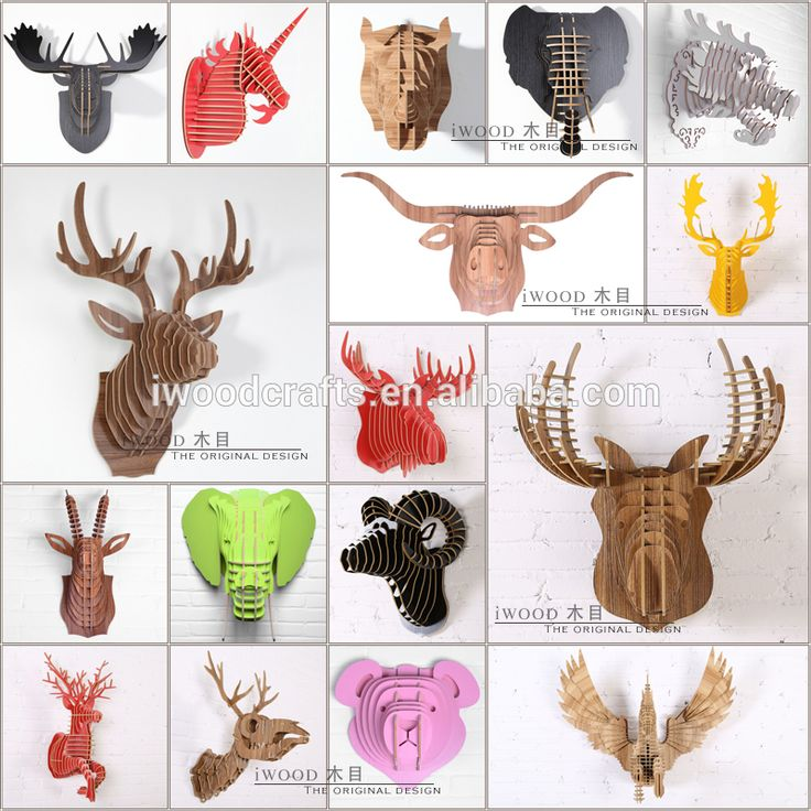 Animal head interior decor, interior wall decoration crafts, View Animal head decor, iWood Product Details from Guangzhou iWood Crafts Co., Ltd. on Alibaba.com