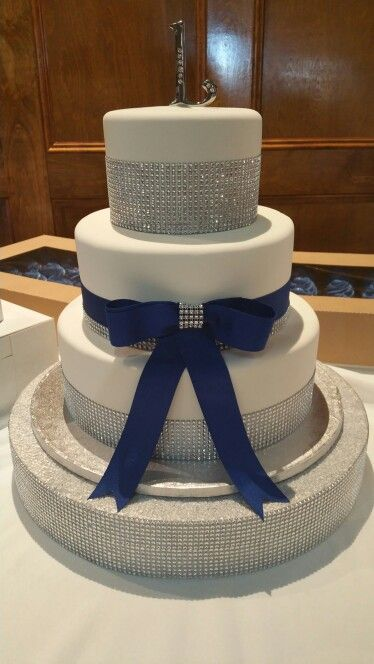 Royal blue and silver Quinceanera