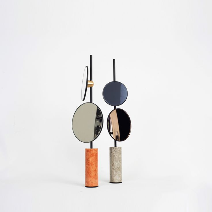 'Nir Meiri Studios designed a pair of mirrors that gives you more than one perspective at the same time as a new take on the everyday object.' Via Design Milk