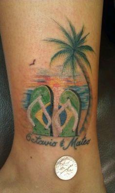 small flip flop tattoo - Google Search