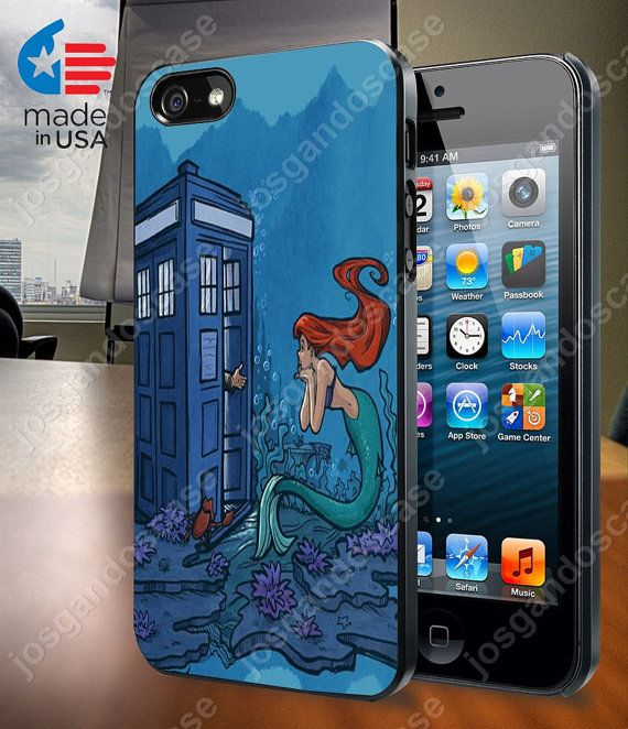 Ariel Mermaid Tardis Case for iPhone 4/4S 5/5S by josgandoscase, $14.79
