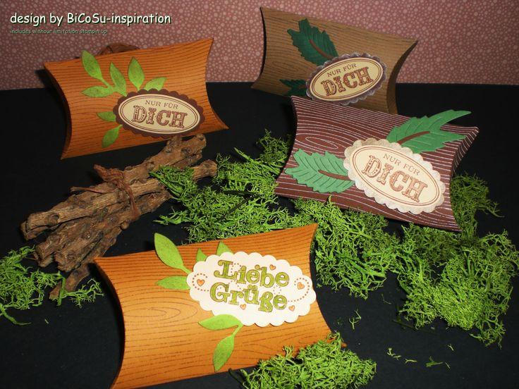 Geschenkverpackungen für die Liebsten und Freunde - gift for love and friends - slogan- and backround stamp from stampin up