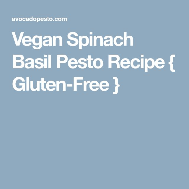 Vegan Spinach Basil Pesto Recipe { Gluten-Free }