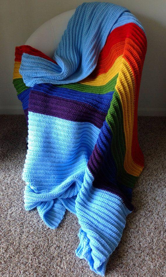 Rainbow Dash Afghan  My Little Pony Blanket by WeeabooWarehouse, $250.00