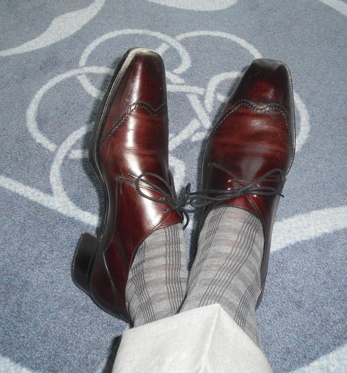 grey socks - that rocks