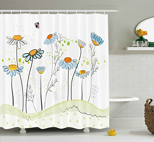 Floral Shower Curtain by Ambesonne, Gardening Theme Daisy... https://www.amazon.ca/dp/B072LCN5FR/ref=cm_sw_r_pi_dp_x_BdDdAbWZ06YBW