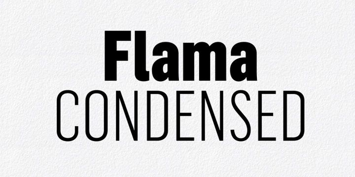 Flama Condensed Font Free Download