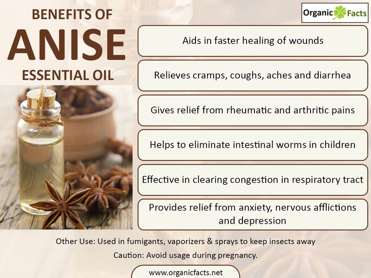The health benefits of Anise Essential Oil can be attributed to its properties like anti epileptic & anti hysteric, anti rheumatic, anti septic, anti spasmodic, aperient, carminative, cordial, decongestant, digestive, expectorant, insecticide, sedative, stimulant and vermifuge. Since long, anise has been in use as a spice and flavouring agent for food stuffs and beverages. It is also employed to flavour liquors. In India and certain other countries, anise is also used as a mouth freshener...