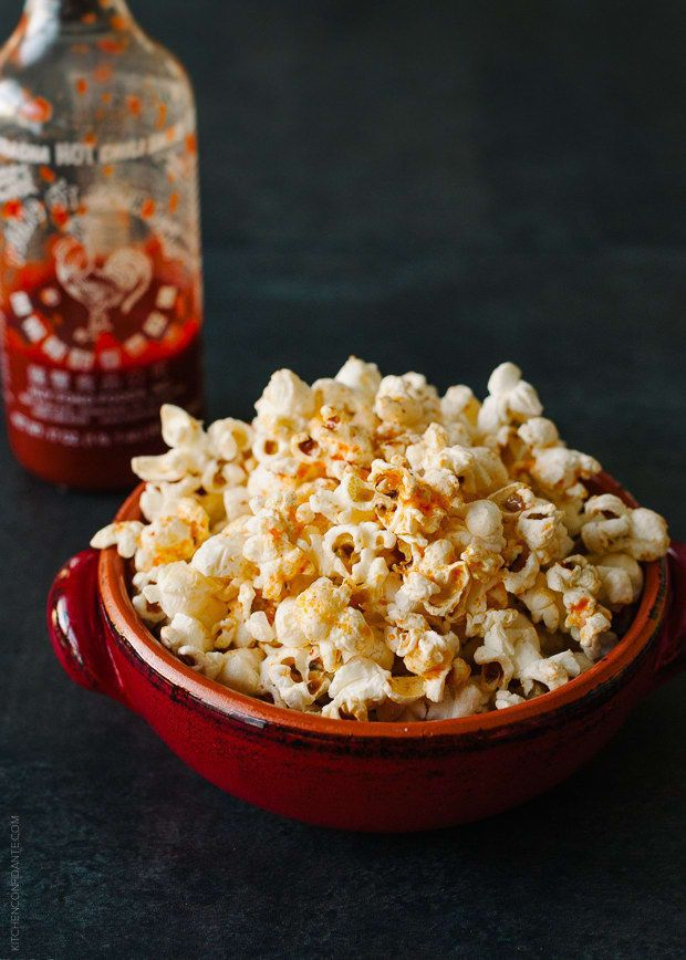 Find instructions on how to make perfect popcorn over a campfire here, then drizzle it with Sriracha butter.