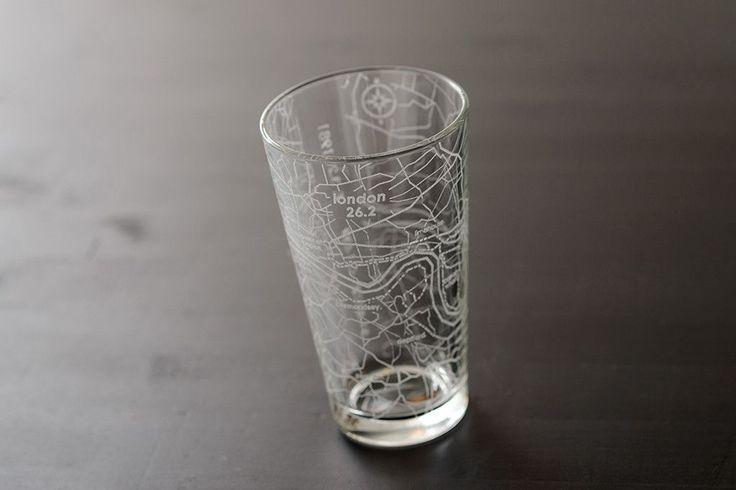 London 26.2 - Marathon Map Pint Glass