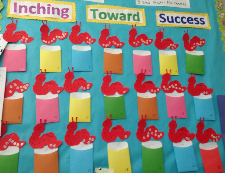 Classroom Reinforcement Ideas : Behavior chart for children using stickers on the inch