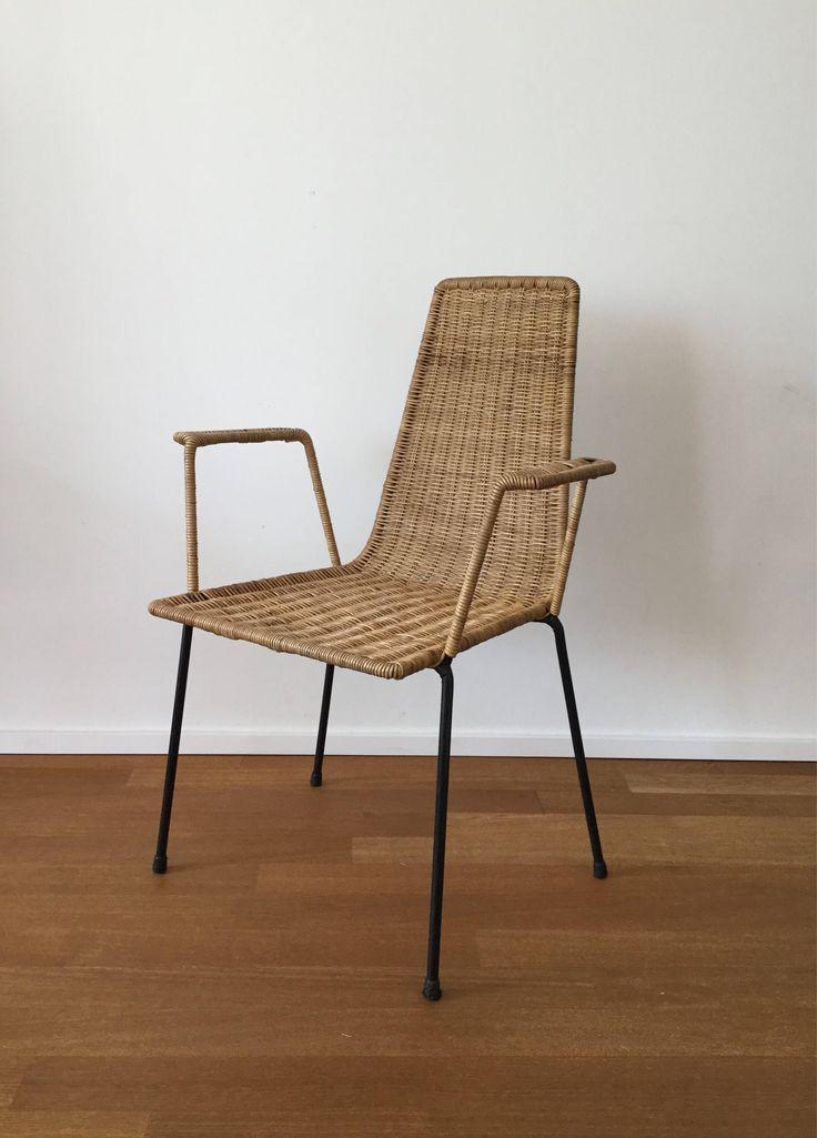 Mid Century 50er 60er Jahre Korbstuhl basket chair im Stil von Gian Franco Legler/Franco Campo/Carlo Graffi von moebelglueck auf Etsy https://www.etsy.com/de/listing/541539349/mid-century-50er-60er-jahre-korbstuhl