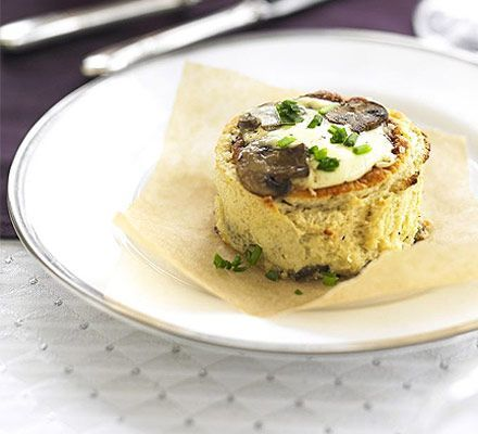 Make-ahead mushroom soufflés  , stunning have served several times and so easy, impressive starter for dinner parties