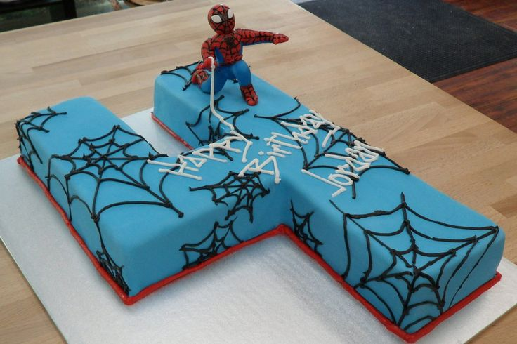 Spiderman '4' Cake by h0p31355.deviantart.com on @deviantART