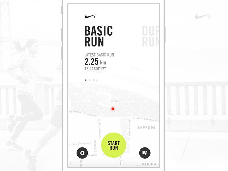 Nike Running App (Freebie) by Mario Šimić